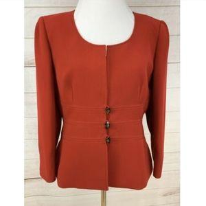 Tahari Blazer Suit Jacket Red